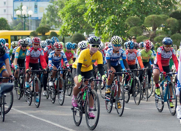 International women's cycling race in south