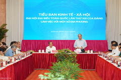 Thủ tướng chủ trì họp Tiểu ban KTXH với miền Trung, Tây Nguyên