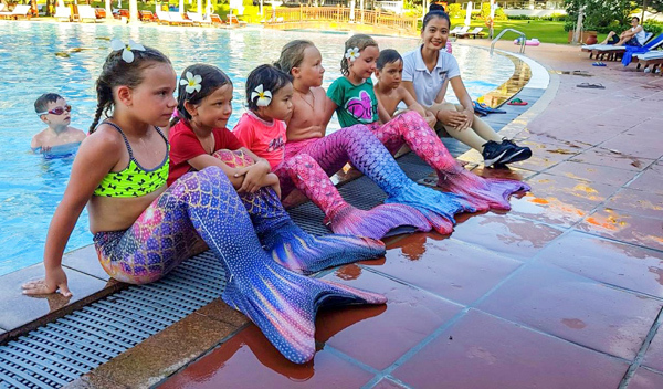 Lớp học 5 sao trang bị kỹ năng sinh tồn cho 'kình ngư nhí' ở Vinpearl