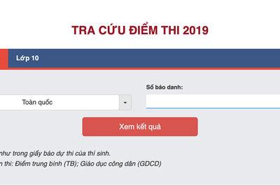Tra cứu điểm thi THPT quốc gia năm 2019 trên VietNamNet