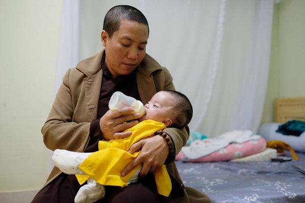 Nun becomes mum