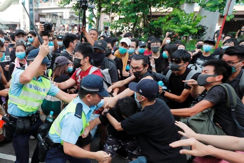 Hong Kong,Trung Quốc,biểu tình,cảnh sát,bạo lực