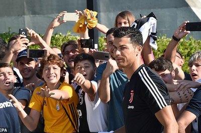 Ronaldo tái xuất, đại náo trung tâm y tế Juventus