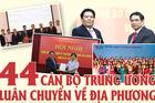Danh sách 44 cán bộ Trung ương thực hiện chính sách luân chuyển