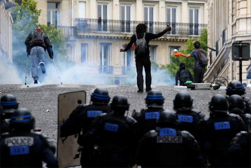 Pháp,quốc khánh Pháp,biểu tình