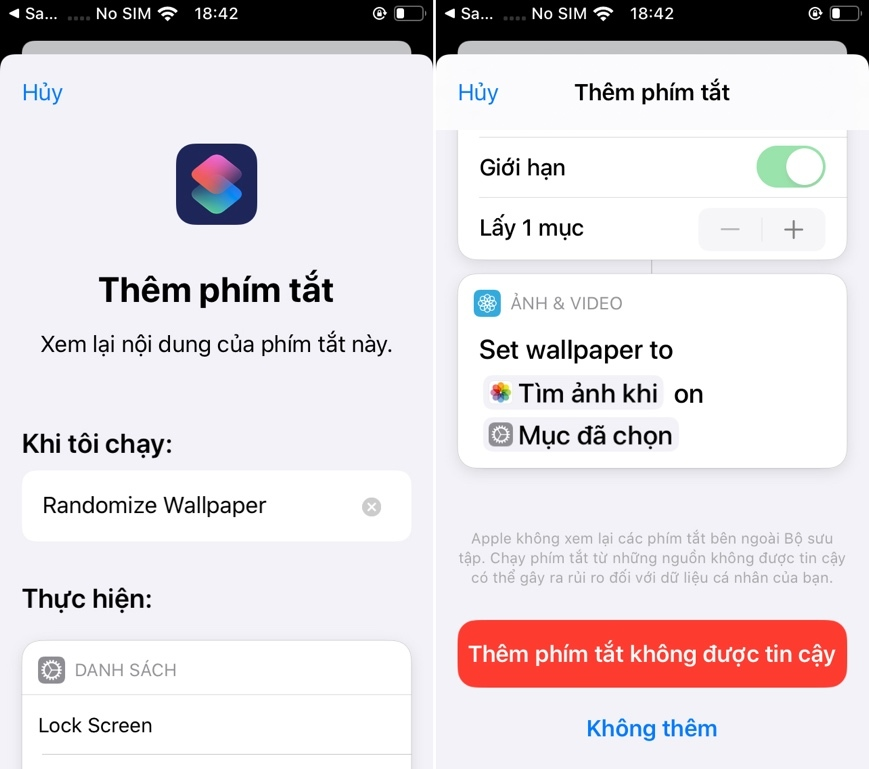Cách đổi hình nền tự động mỗi ngày trên iOS 13