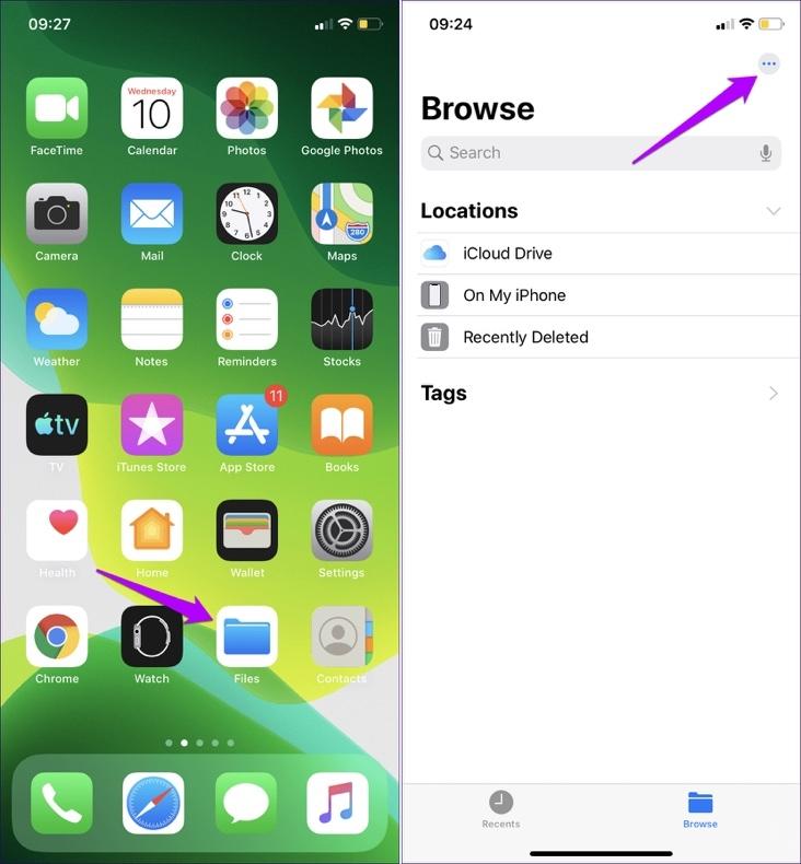 Cách thay đổi thư mục lưu file tải về của Safari trên iOS 13