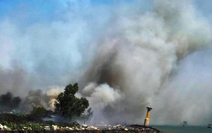 cháy lớn,hoả hoạn,bán đảo Sơn Trà,Đà Nẵng