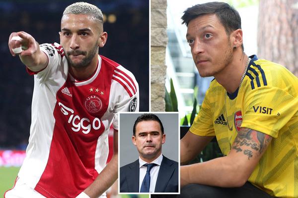 Arsenal bán ngay Ozil, mua Ziyech chỉ bằng nửa giá
