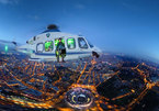 Exhibition shows Italian landscape seen from helicopters