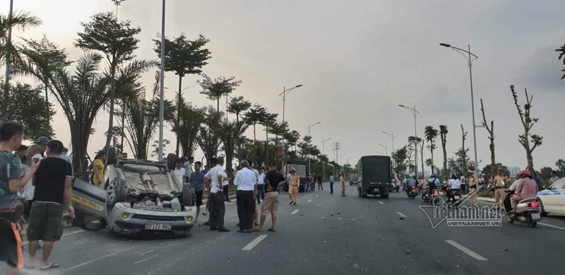 Gây ra 2 vụ tai nạn trên đường ở Hà Nội, tài xế vọt ga bỏ chạy