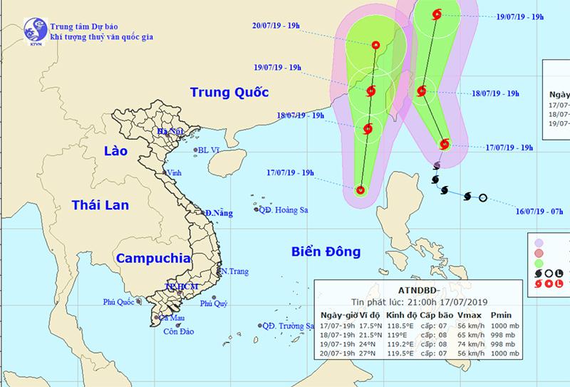 Thêm áp thấp nhiệt đới trên Biển Đông có khả năng thành bão