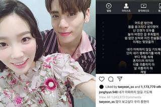 Fan buồn lòng vì Taeyeon (SNSD) thương nhớ ca sĩ quá cố Jonghyun