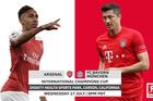 Link xem trực tiếp Arsenal vs Bayern Munich, 10h ngày 18-7