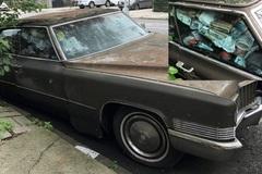 Xe sang Cadillac gỉ sắt, lấp đầy rác vì bị bỏ xó 25 năm