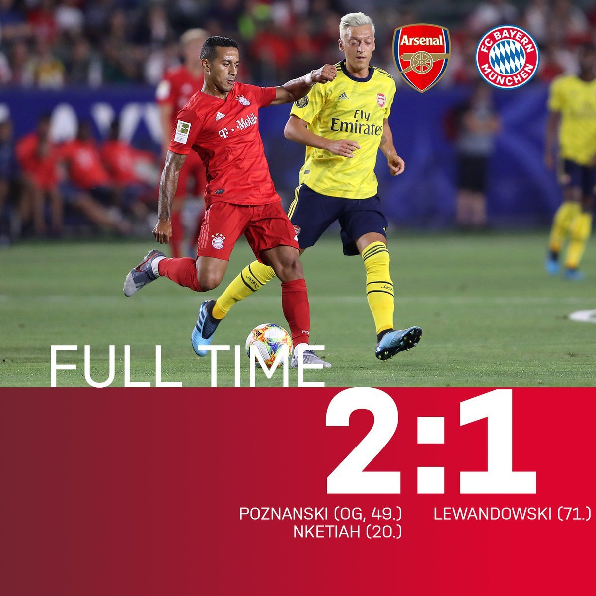 Arsenal đánh bại Bayern Munich mở màn ICC