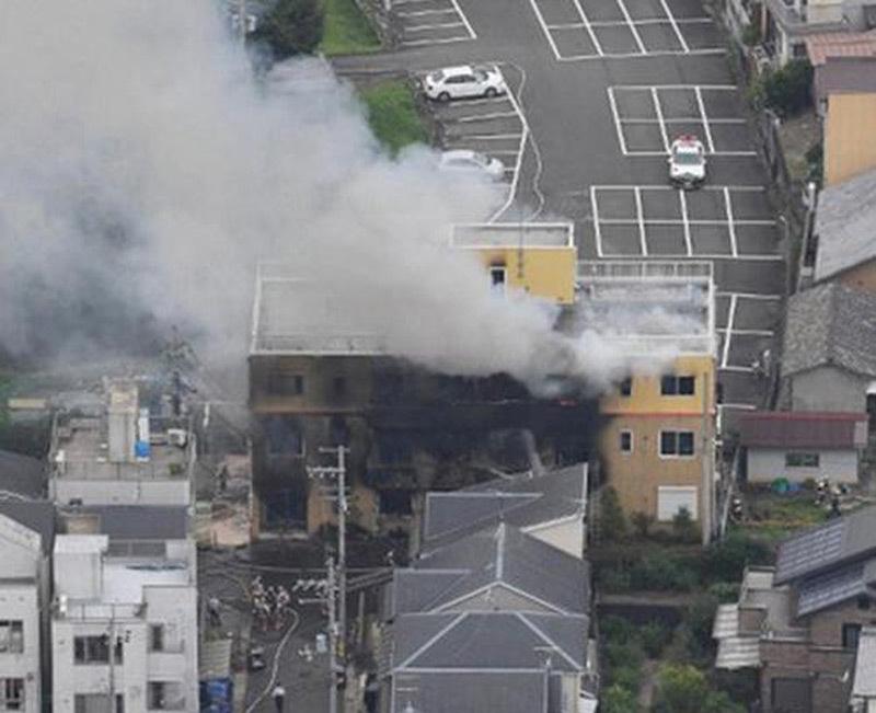 Nhật,xưởng phim hoạt hình,hỏa hoạn,cháy
