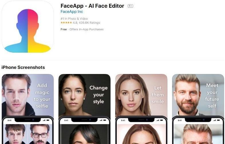 Đảng Dân chủ Mỹ kêu gọi không dùng ứng dụng biến đổi gương mặt