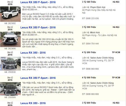 Lexus,Mercedes,Toyota Camry,siêu xe