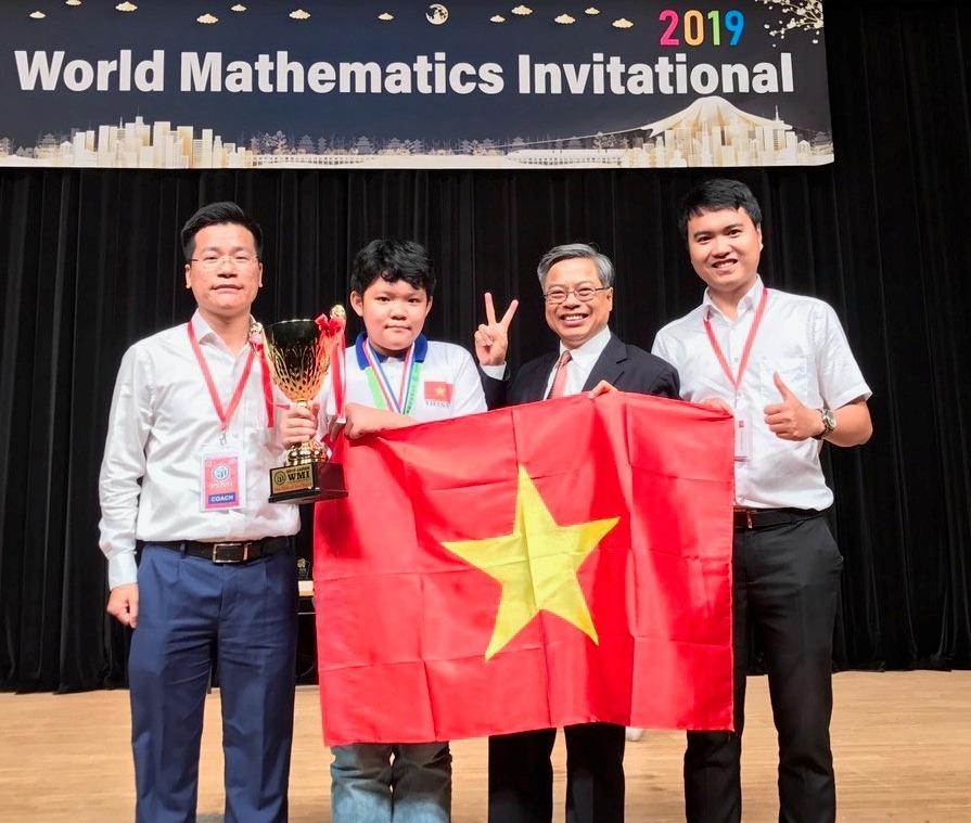 Học sinh Việt Nam đạt điểm cao nhất kỳ thi Toán quốc tế WMI năm 2019