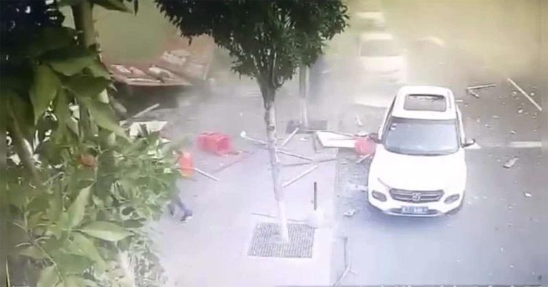 Kinh hoàng khoảnh khắc nhà hàng TQ nổ tung