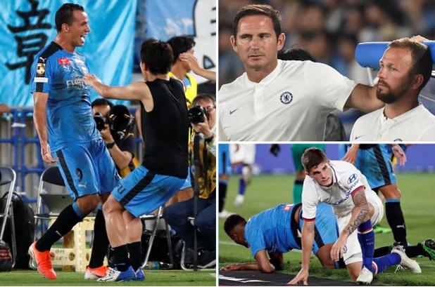 CHÙM ẢNH Chelsea thua sốc tại Nhật, Lampard buồn thiu