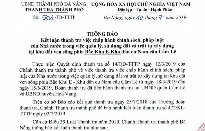 Lơ là trong quản lý đất đai, Đà Nẵng đề nghị xử lý hàng loạt cán bộ