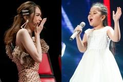 Hương Giang ngã quỵ xuống sân khấu, năn nỉ thí sinh 7 tuổi về đội