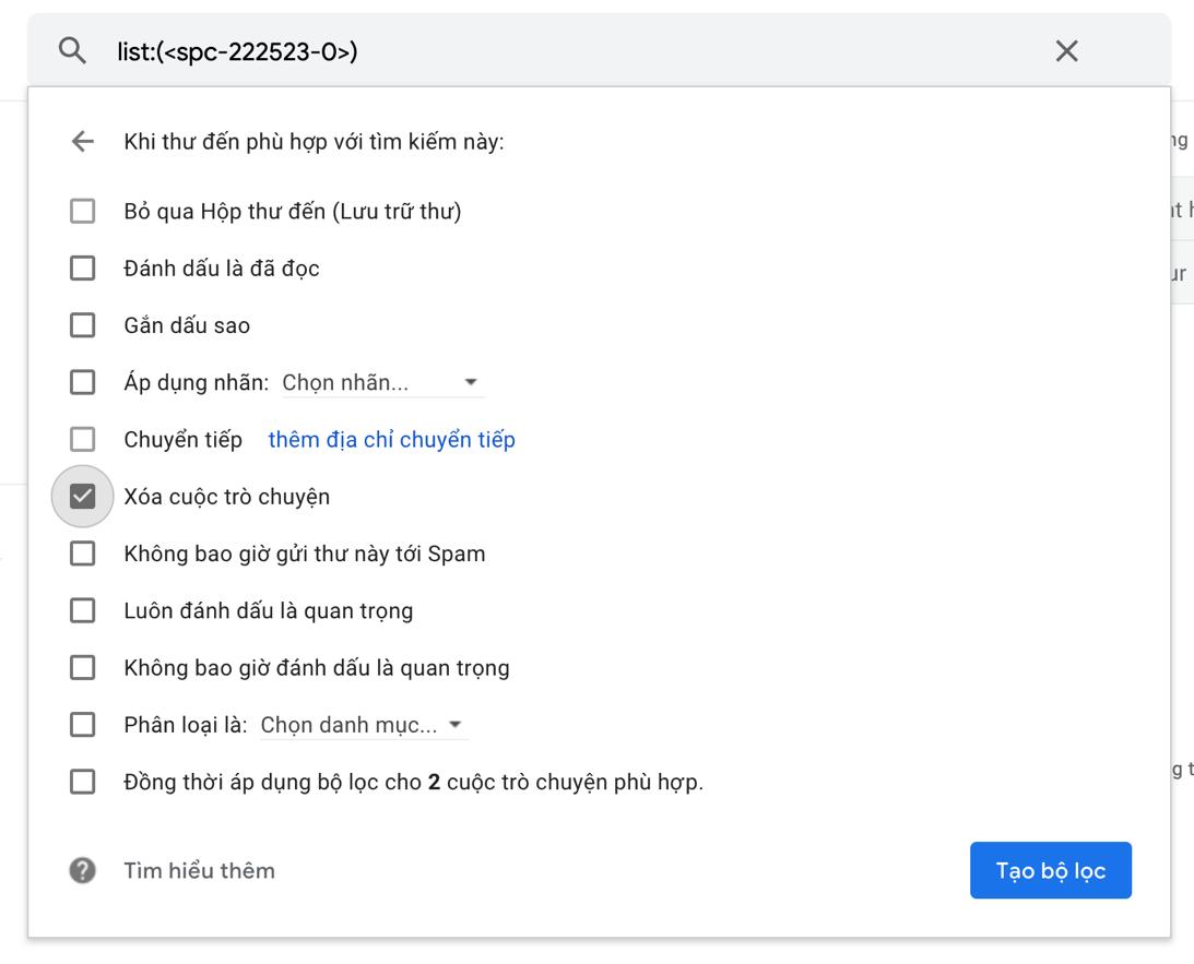 Hai cách chặn triệt để email rác trên Gmail