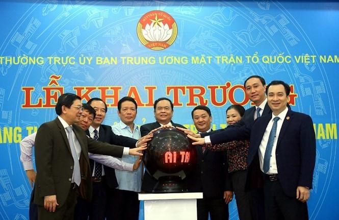 Khai trương trang thông tin điện tử mới Mặt trận Tổ quốc Việt Nam