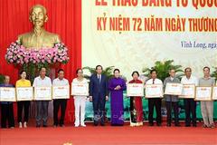 Chủ tịch QH dự lễ trao bằng Tổ quốc ghi công tại tỉnh Vĩnh Long