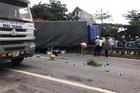 Xe tải đâm vào đoàn người ở Hải Dương, 5 người chết