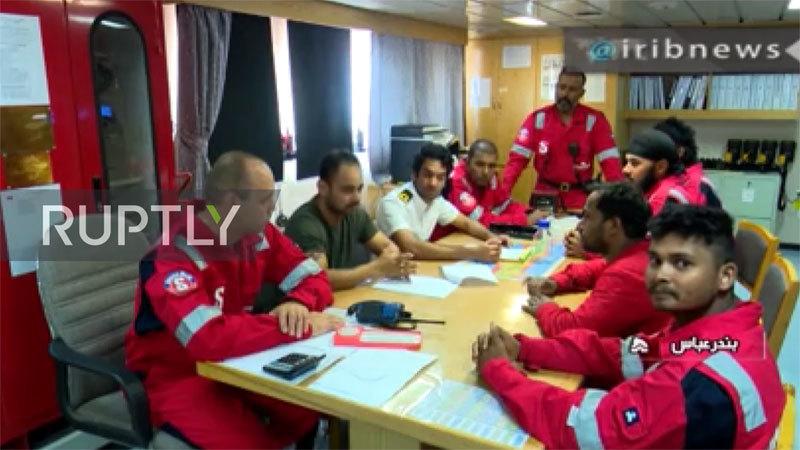 Iran tung video về thủy thủ trên tàu dầu Anh