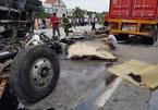 Hiện trường vụ tai nạn 6 người bị xe tải đè chết ở Hải Dương