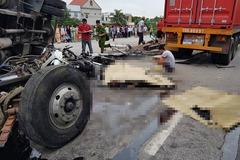 Tai nạn 5 người chết ở Hải Dương do tài xế xe tải giật mình