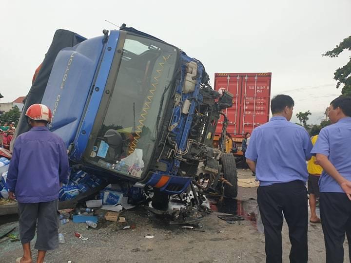 Vợ chồng công nhân cùng gặp họa trong vụ tai nạn ở Hải Dương