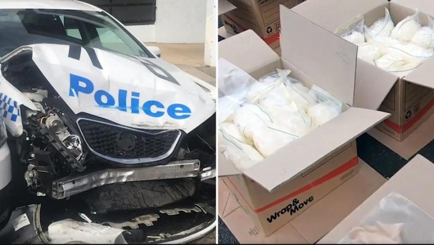 Tài xế 'số nhọ' chở 270kg ma túy đá đâm vào xe cảnh sát
