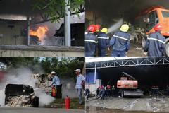 Cháy lớn trong khu công nghiệp lớn nhất TT-Huế, gần 200 người dập lửa