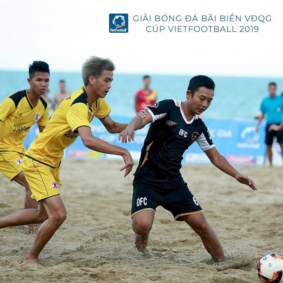 Khánh Hoà bảo vệ chức vô địch bóng đá bãi biển QG Cup Vietfootball 2019