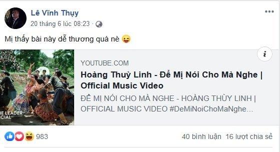 Vĩnh Thuỵ đăng clip tình tứ với Hoàng Thuỳ Linh sau nghi vấn đã chia tay