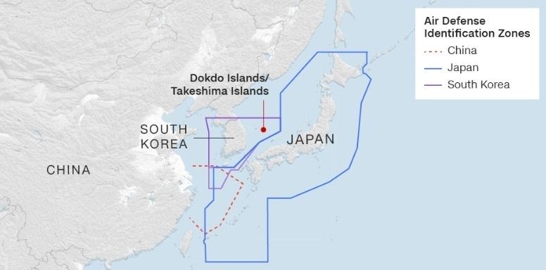 Toàn cảnh cuộc đụng độ trên không Nhật-Hàn-Trung-Nga