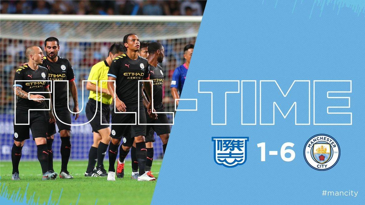 Man City thắng tưng bừng 6-1 trên đất Hồng Kông