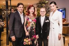 Chồng doanh nhân Ấn Độ tháp tùng Hoa hậu Diệu Hoa đi sự kiện