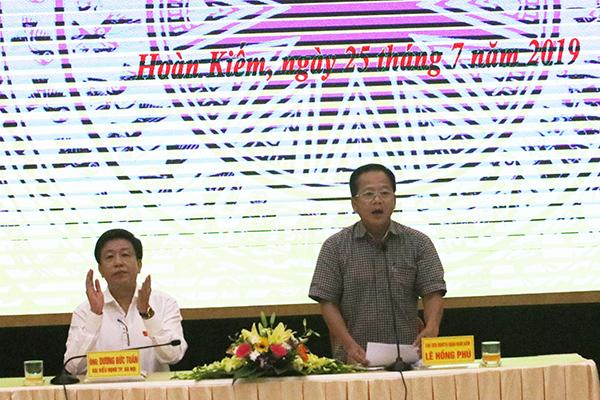 Chủ tịch Hà Nội,Nguyễn Đức Chung,tiếp xúc cử tri