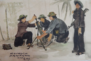Martyr's paintings on display at Da Nang Fine Arts Museum