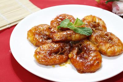 Tôm sú chiên sốt cà chua, món ngon phù hợp bữa ăn sang trọng