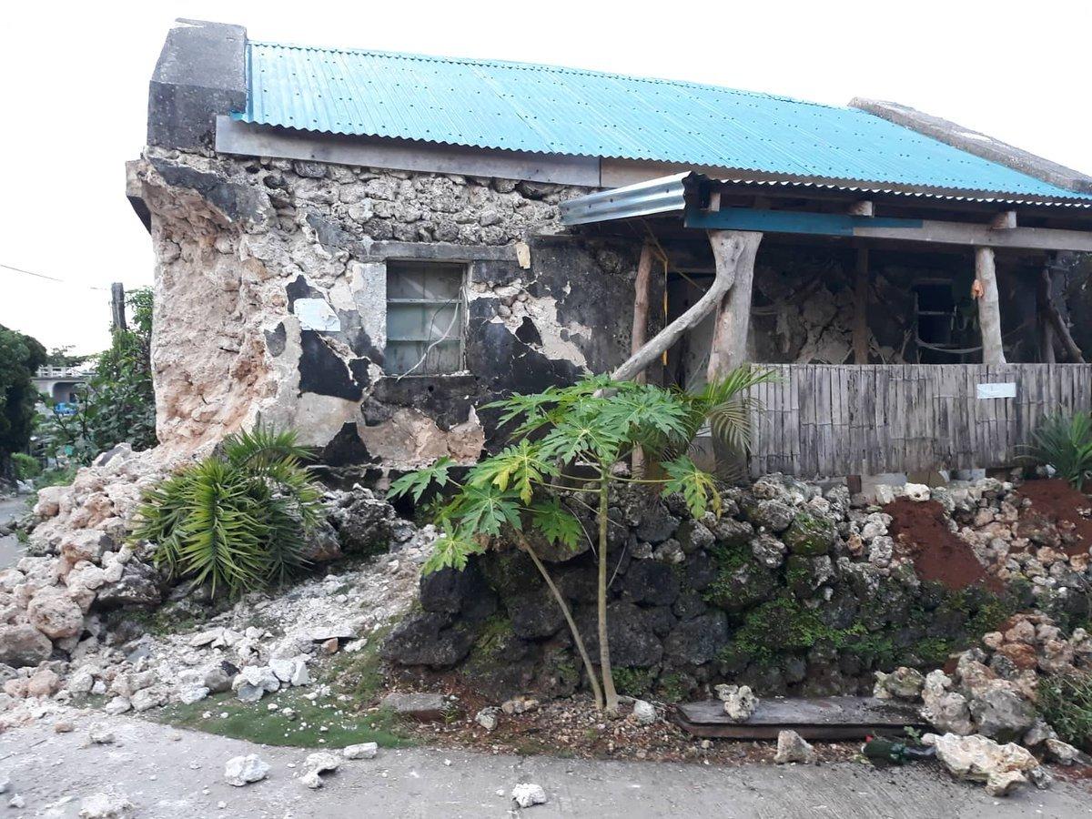 Động đất liên tiếp ở Philippines, ít nhất 8 người thiệt mạng