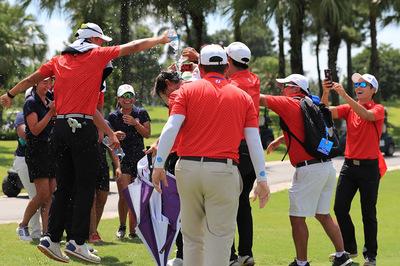 Thái Lan giành 3 danh hiệu giải golf đồng đội Đông Nam Á 2019