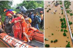 Quân đội Ấn Độ hối hả cứu 700 khách kẹt giữa biển nước