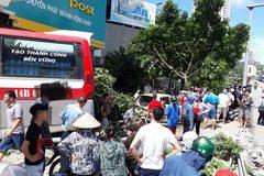 Hiện trường vụ xe giường nằm hất tung 12 xe máy và 2 ô tô, 2 người chết